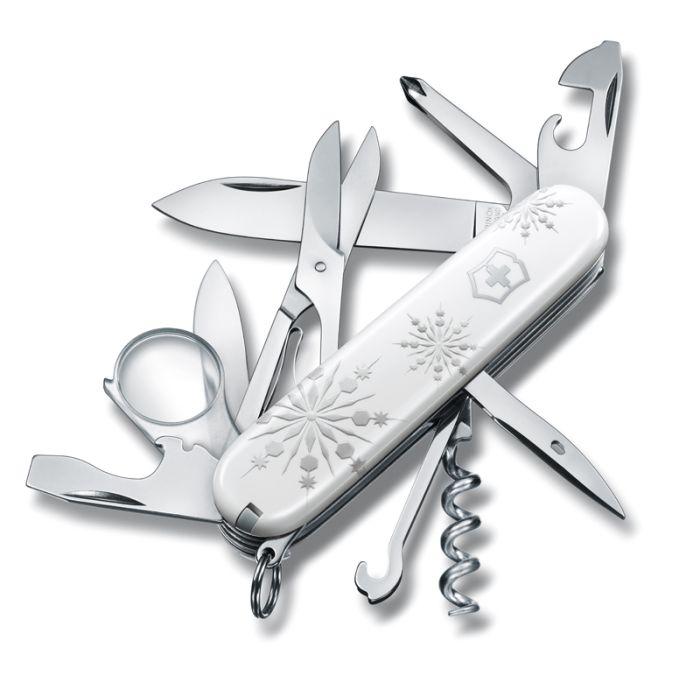 Нож перочинный VICTORINOX Explorer White Christmas SE 2017, 91 мм, 16 функций