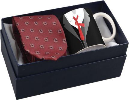 """Подарочный набор: чашка и галстук """"Утро джентльмена"""""""