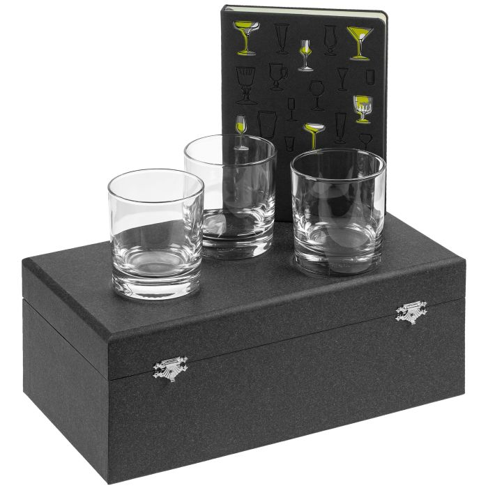 """Набор """"Культура пития"""", с бокалами для виски и ежедневником"""