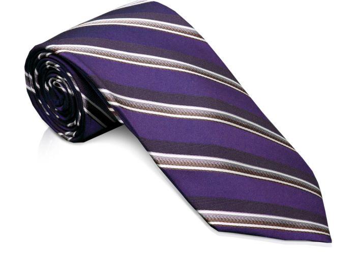Галстук, цвет фиолетовый