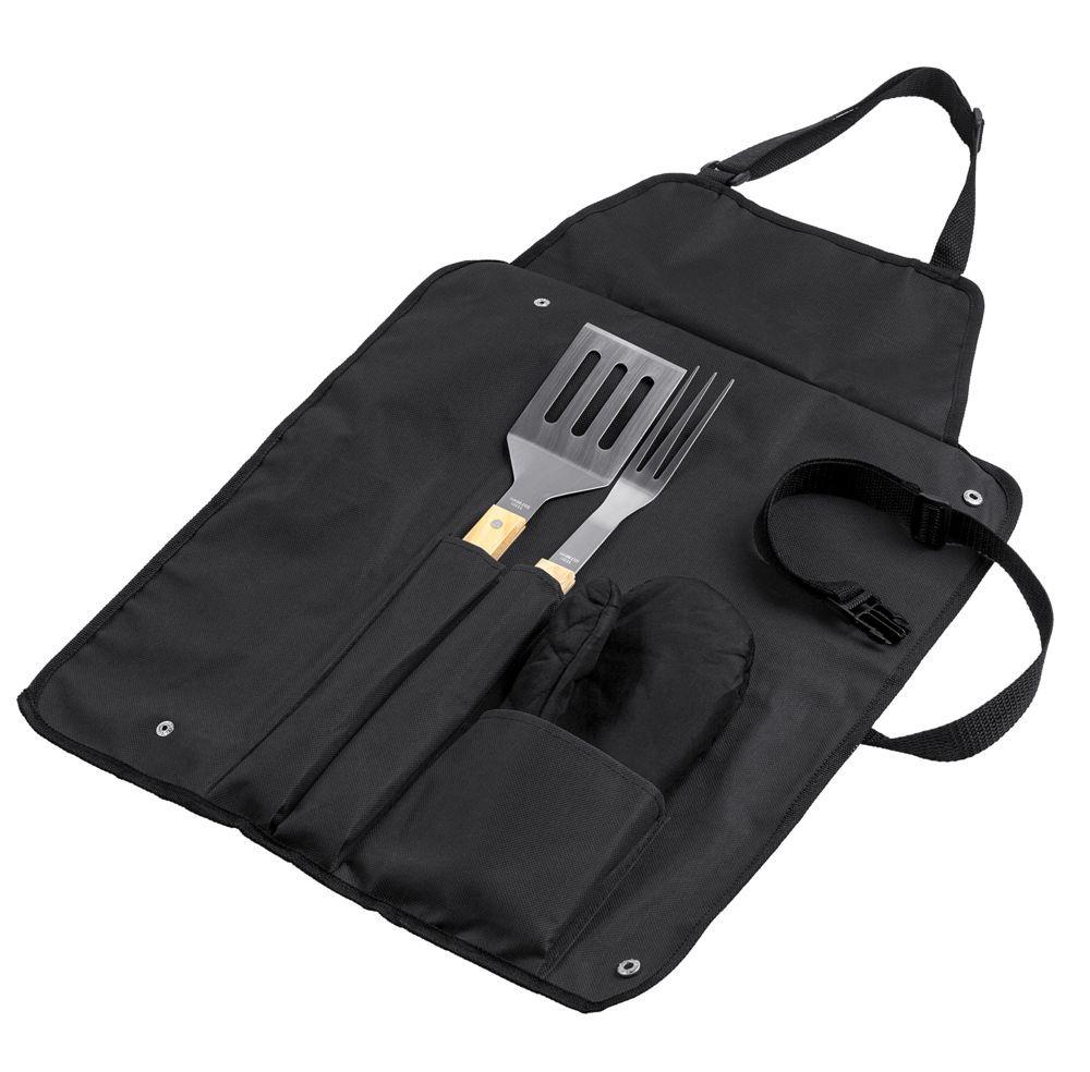 Фартук с набором для барбекю Grill Master, чёрный