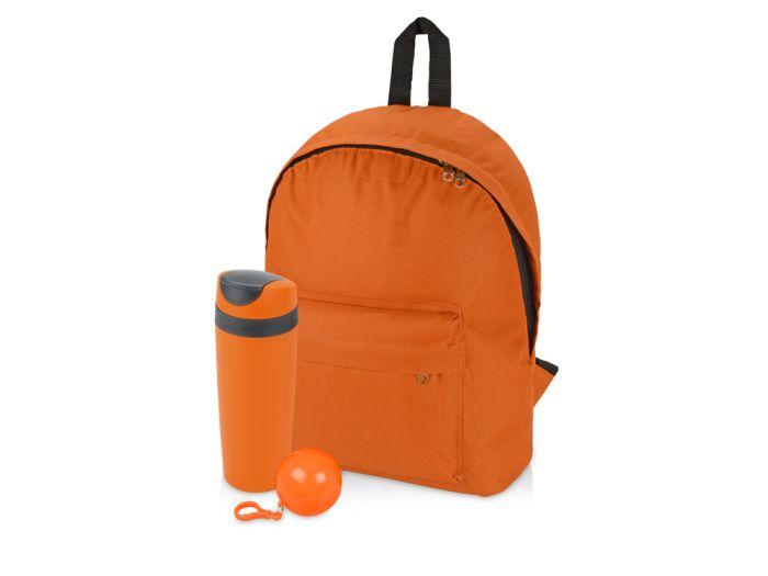 """Подарочный набор """"Tetto"""": термокружка 450 мл, дождевик и рюкзак"""