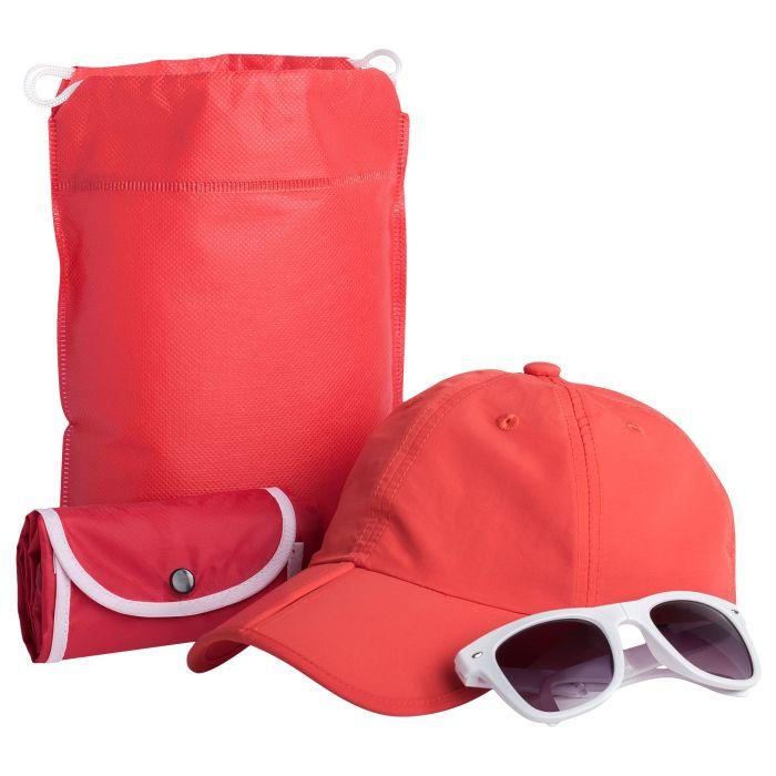 Набор Sunny Bay: рюкзак, бейсболка и очки, цвет красный