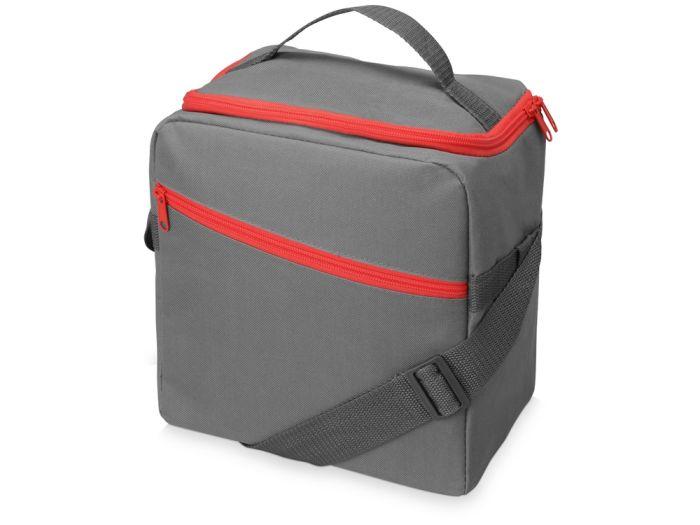 """Изотермическая сумка-холодильник """"Classic"""", цвет серый с красным"""