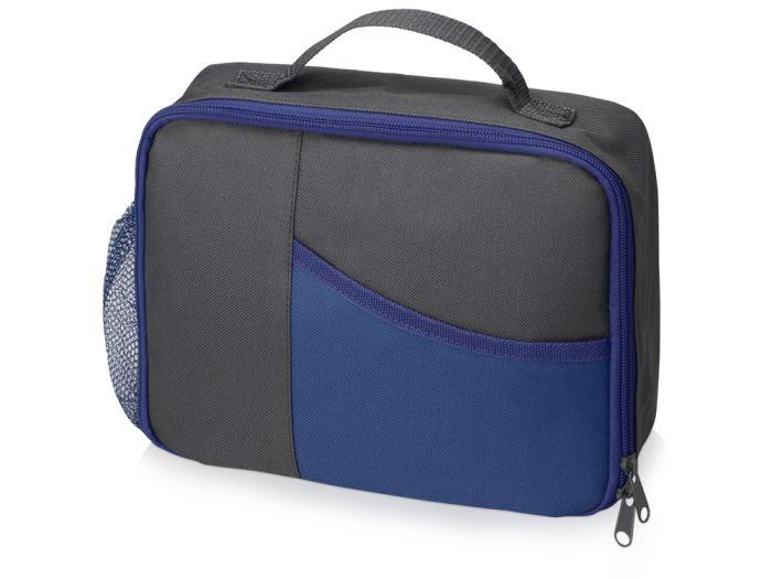 """Изотермическая сумка-холодильник """"Breeze"""" для ланч бокса, цвет серый с синим"""