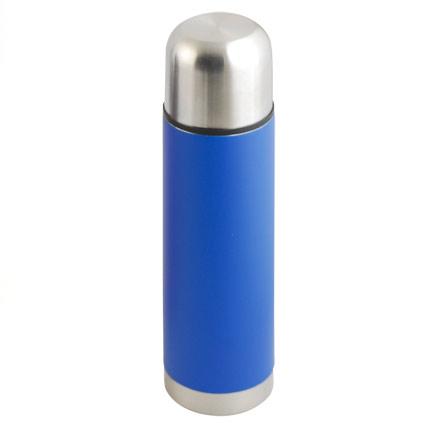 Термос с двойными стенками из нержавеющей стали, объем 500 мл, цвет синий