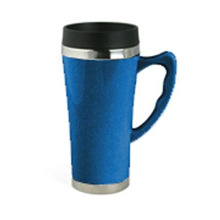 Термокружка, металл/пластик, 400 мл, синяя