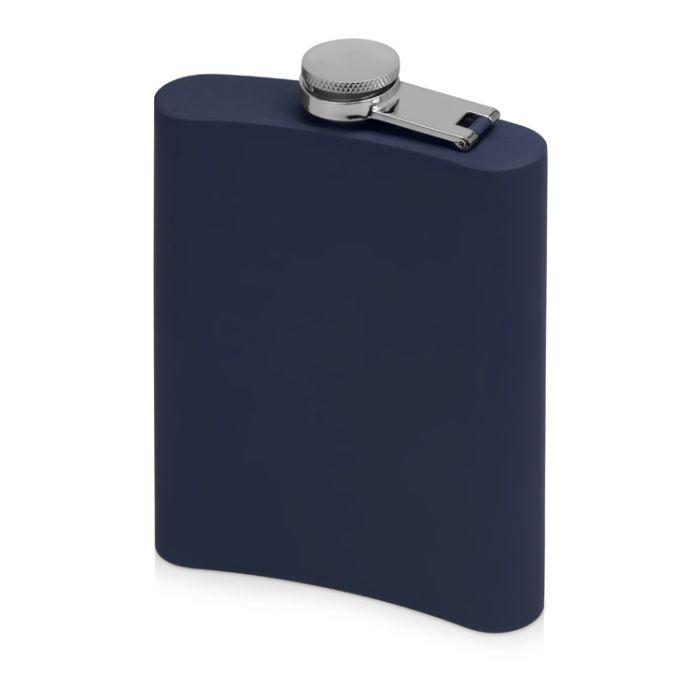 """Фляжка """"Remarque"""" с покрытием SOFT TOUCH, цвет синий"""