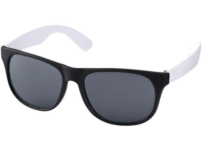 """Очки солнцезащитные """"Retro"""", цвет чёрный с белым"""