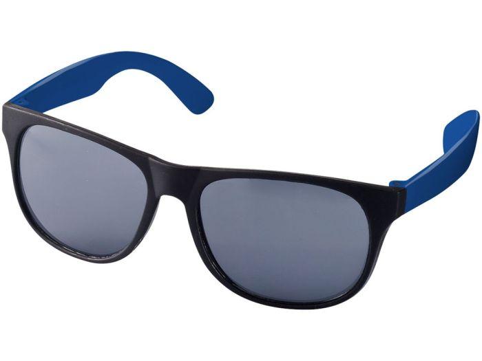 """Очки солнцезащитные """"Retro"""", цвет чёрный с синим"""