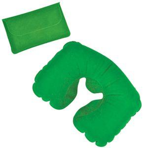 Подушка надувная дорожная в футляре, цвет зеленый
