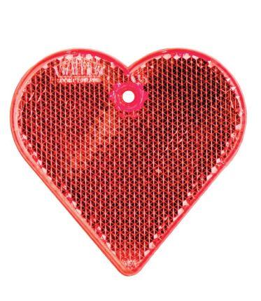 """Пешеходный светоотражатель """"Сердце"""", красный"""