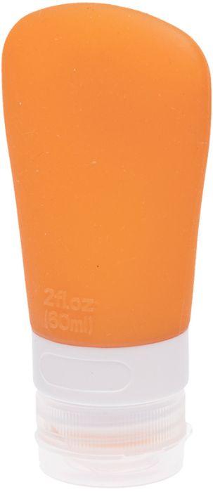 Дорожная баночка для косметических средств Dewal Beauty, с присоской, 60 мл, оранжевая