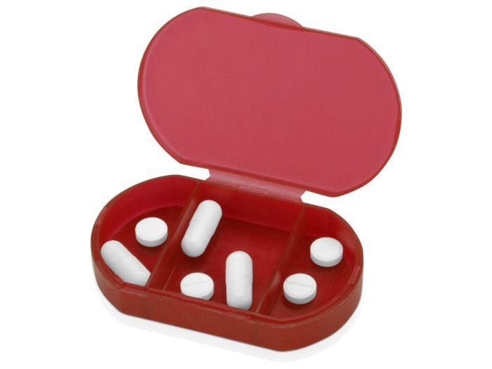 """Футляр для таблеток и витаминов """"Личный фармацевт"""", цвет красный"""