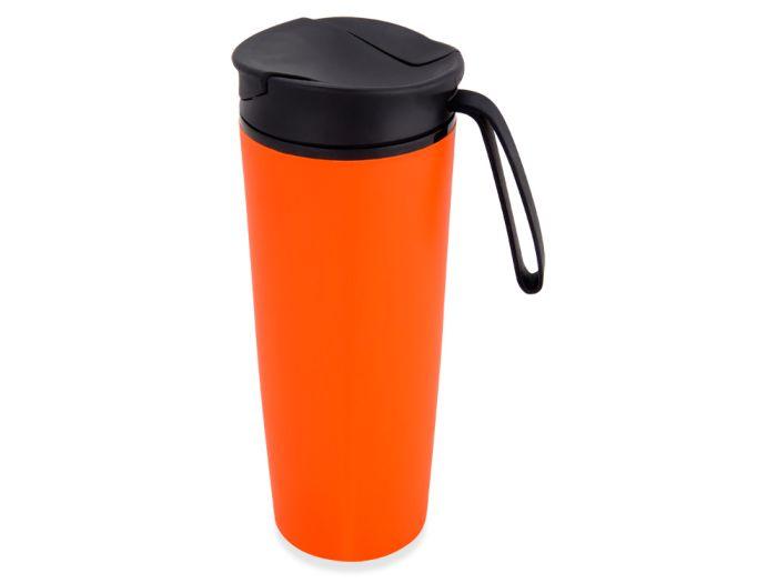 """Термокружка """"Годс"""" на присоске, объём 470 мл, цвет оранжевый"""