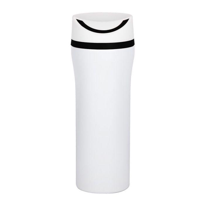 Термокружка вакуумная Unique, 450 мл, цвет белый с чёрным