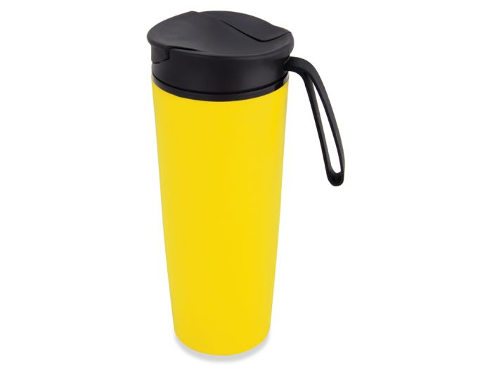 """Термокружка """"Годс"""" на присоске, объём 470 мл, цвет жёлтый"""
