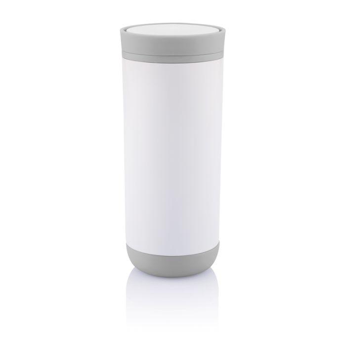 Термокружка Clik, 225 мл, цвет белый с серым