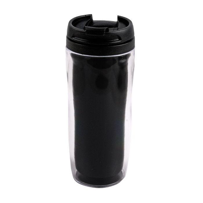 """Термостакан (кружка) """"Фанат"""" под полиграфическую вставку, 350 мл, пластик, цвет чёрный"""