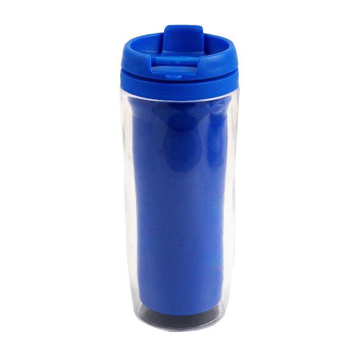 """Термостакан (кружка) """"Фанат"""" под полиграфическую вставку, 350 мл, пластик, цвет синий"""