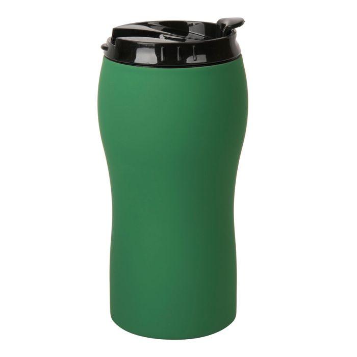 """Термокружка вакуумная """"Velvet"""" с покрытием SOFT TOUCH, объём 380 мл, цвет зелёный"""