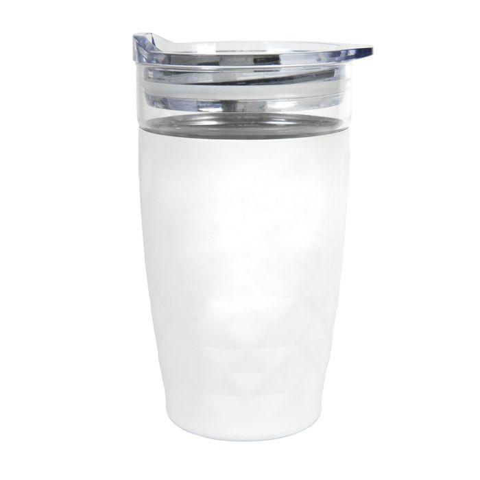 Термокружка вакуумная Cristal, цвет белый