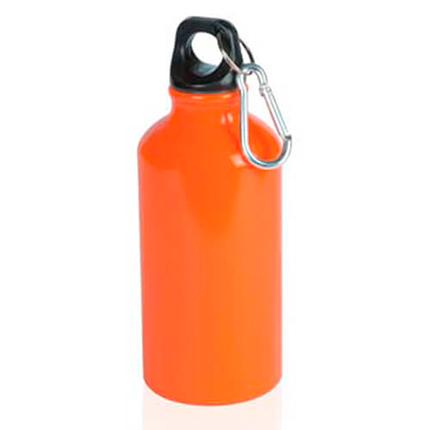 """Бутылка для воды """"Mento"""", с карабином, 400 мл, цвет оранжевый"""