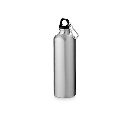 "Бутылка ""Pacific"" с карабином, объём 770 мл, цвет серебристый"