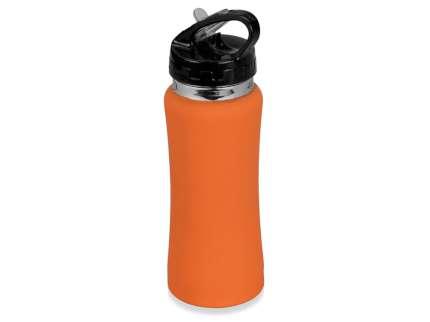 """Бутылка спортивная """"Коста-Рика"""" с покрытием SOFT TOUCH, объём 600 мл, цвет оранжевый"""