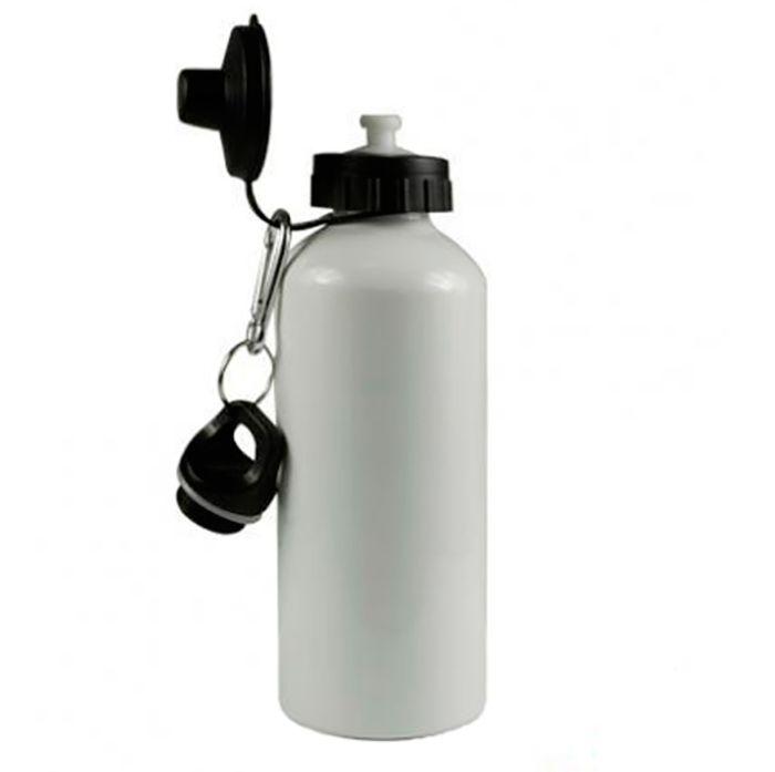 Бутылка для сублимации, металлическая, 600 мл, с двумя крышками, белая