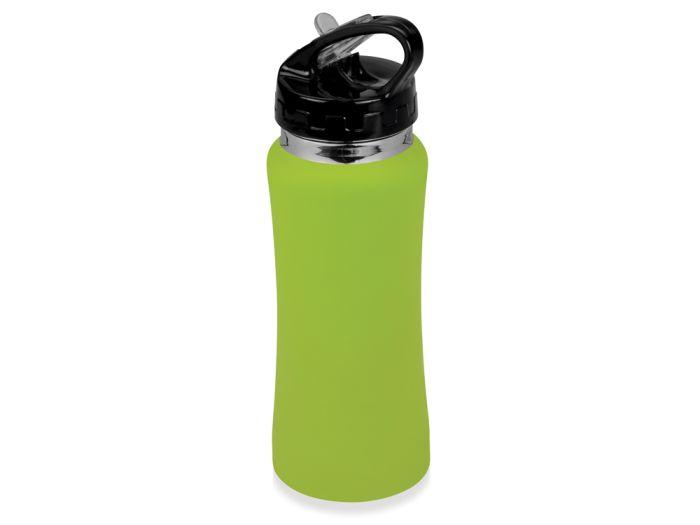 """Бутылка спортивная """"Коста-Рика"""" с покрытием SOFT TOUCH, объём 600 мл, цвет зелёное яблоко"""