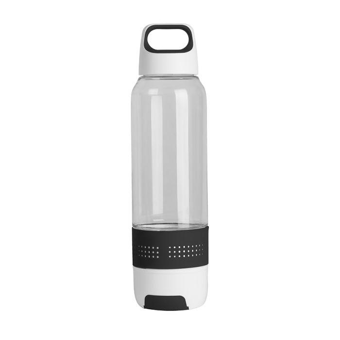 Бутылка с полотенцем TRAINER, 500 мл, цвет белый с чёрным