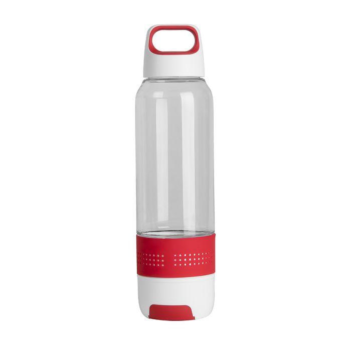 Бутылка с полотенцем TRAINER, 500 мл, цвет белый с красным