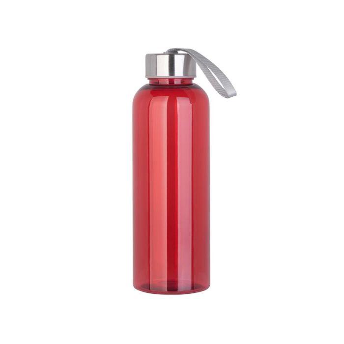 "Бутылка для воды ""H2O"", 0,5 л, цвет красный"