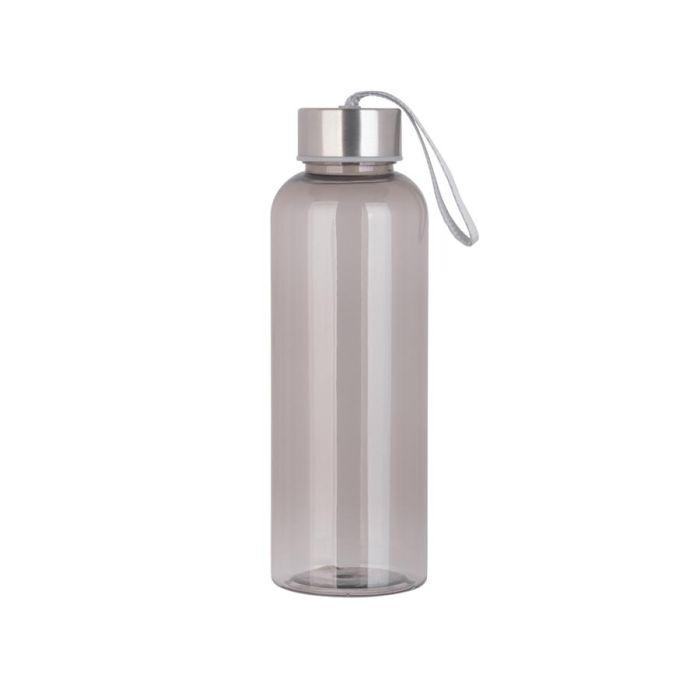 """Бутылка для воды """"H2O"""", 0,5 л, цвет серый"""