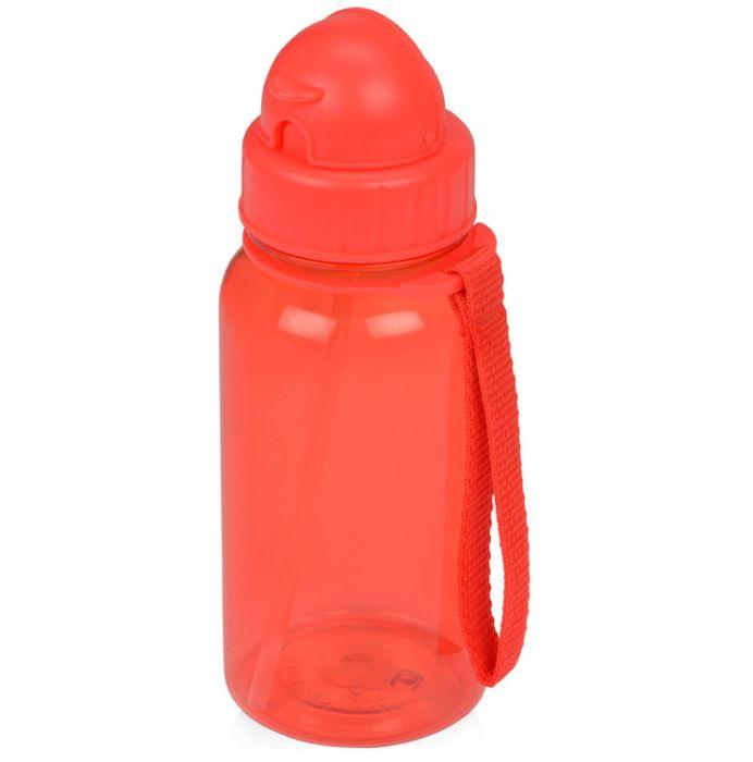 """Бутылка для воды со складной соломинкой """"Kidz"""", цвет красный"""