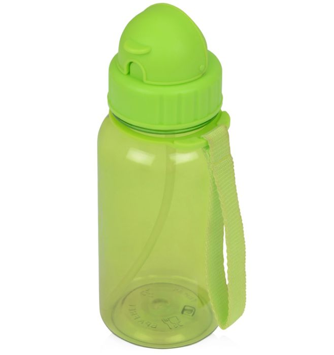 """Бутылка для воды со складной соломинкой """"Kidz"""", цвет зелёное-яблоко"""