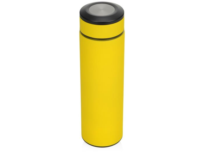 "Термос""Confident"" с покрытием soft-touch, желтый"