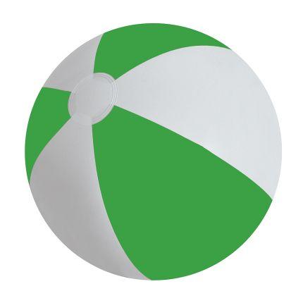 """Мяч надувной """"ЗЕБРА"""", 45 см, цвет белый с зелёным"""