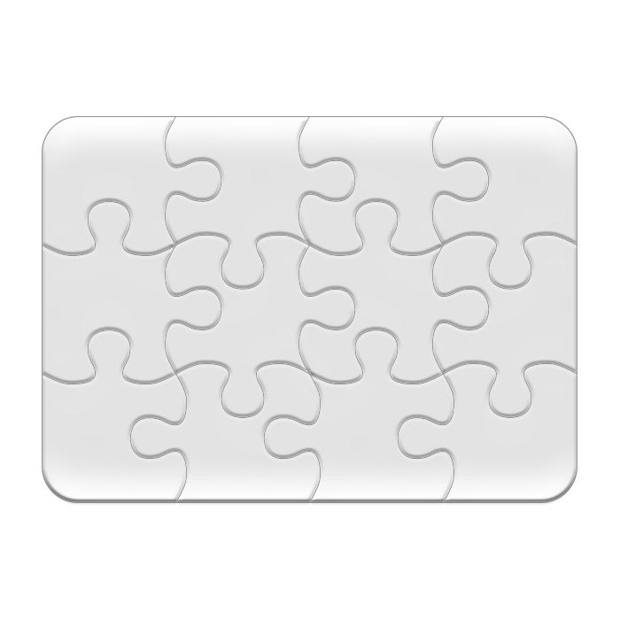 Пазл-магнит для сублимации, 13х18 см, 12 элементов