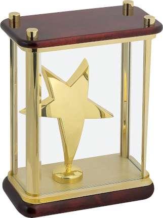 """Статуэтка """"Звезда"""" в стекле, Linea del Tempo, (цвет золотой, коричневый) (A04GBR)"""