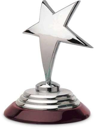 """Статуэтка """"Звезда"""", Linea del Tempo, (цвет коричневый, серебряный) (A9804)"""
