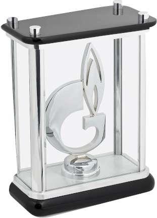 """Статуэтка """"Символ газа"""" в стекле, Linea del Tempo, (цвет чёрный, серебряный) (G04SBL)"""