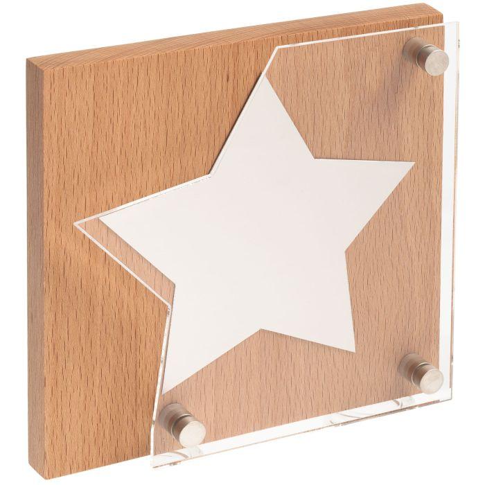 Награда Asteri Light Silver, основа бежевая, звезда серебристая