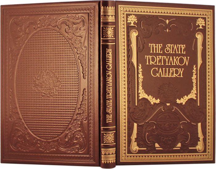 """Книга """"Третьяковская галерея"""" в обложке из натуральной кожи, ручная работа"""