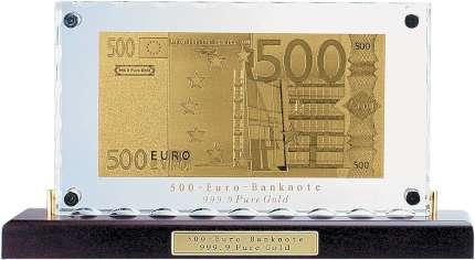 """Сувенир настольный """"500 евро"""" на деревянной подставке"""